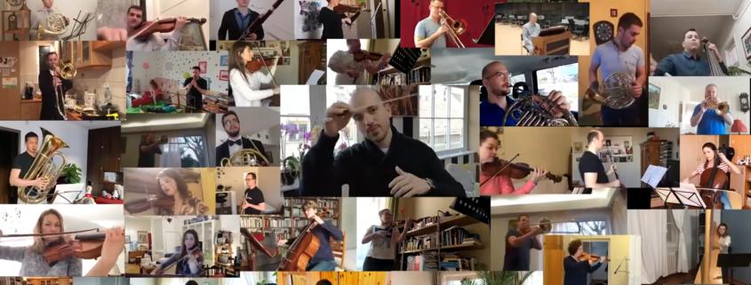 Home officeban a szimfónikus zenekar